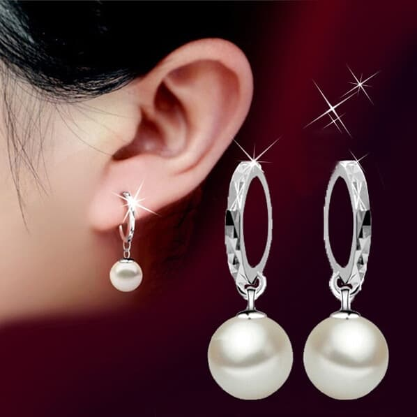 sample description for pearl earrings shirt