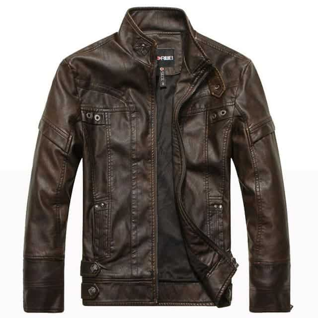 sample description for leather jacket