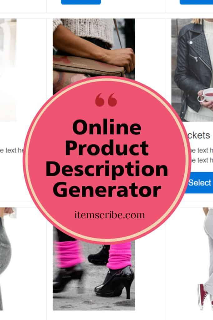 Online Product Description Generator - Item Scribe