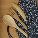bamboo spoon fork knife